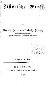 Historische Werke von Arnold Herrmann Ludwig Heeren: Band 11