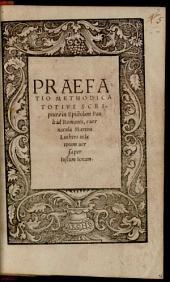 Praefatio methodica totius scripturae in epistolam Pauli ad Romanos