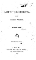 A Leaf of the Shamrock  with other poetry PDF
