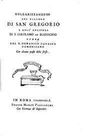 Volgarizzamento del Dialogo di san Gregorio e dell'Epistola di s. Girolamo ad Eustochio