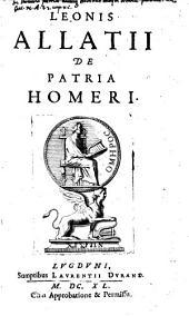De patria Homeri
