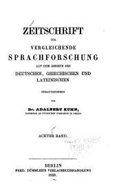 Zeitschrift für vergleichende Sprachforschung: Band 8