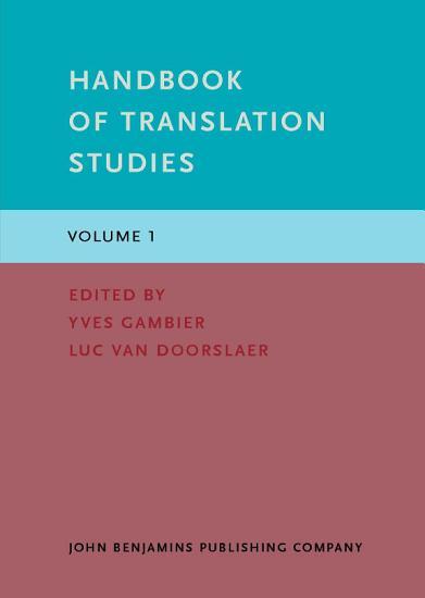 Handbook of Translation Studies PDF