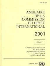 Annuaire De La Commission Du Droit International 2001