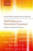Null Subjects in Generative Grammar PDF