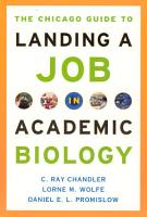 The Chicago Guide to Landing a Job in Academic Biology PDF