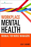 Workplace Mental Health Manual for Nurse Managers PDF