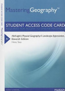 Mcknight s Physical Geography Masteringgeography Standalone Access Card