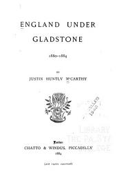 England Under Gladstone, 1880-1885