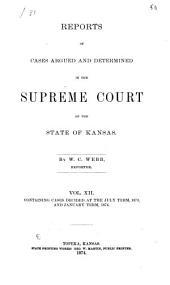 Kansas Reports: Volume 12