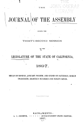The Journal of the Assembly ... of the Legislature of the State of California ...