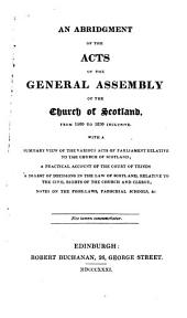 A compendium of the laws of the Church of Scotland ...