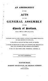 A Compendium Of The Laws Of The Church Of Scotland