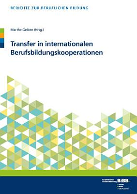 Transfer in internationalen Berufsbildungskooperationen PDF
