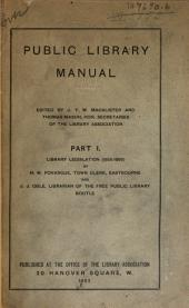 Public Library Manual: Part 1