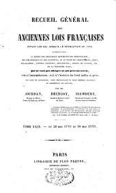 Recueil général des anciennes lois françaises: depuis l'an 420 jusqu'à la Révolution de 1789, Volume24