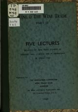 Wine   the Wine Trade  spring 1947 PDF