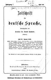 Zeitschrift für deutsche Sprache: Band 5,Ausgaben 10-12