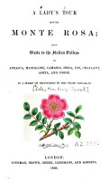 A Lady s Tour Round Monte Rosa  with Visits to the Italian Valleys       PDF