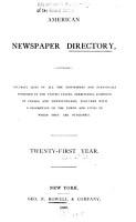 American Newspaper Directory PDF
