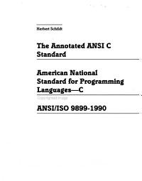 The Annotated ANSI C Standard
