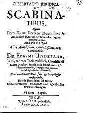 Diss. iur. de scabinatibus