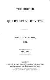 The British Quarterly Review: Volume 16