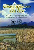 Agrometeorology of the Rice Crop PDF