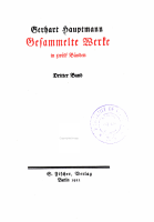 Gerhart Hauptmann  bd  Florian Geyer  Elga  Die versunkene glocke  Fuhrmann Henschel PDF