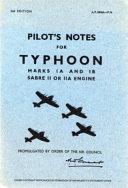 Hawker Typhoon Ia & Ib - Pilot's Notes