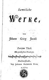 Saemtliche Werke, von Johann Georg Jacobi: Volume 2