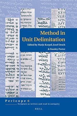 Method in Unit Delimitation PDF