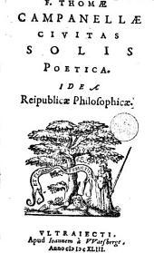 Campanellae Civitas solis: poetica idea reipublicae philosophicae