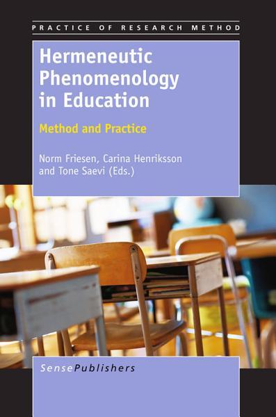 Download Hermeneutic Phenomenology in Education Book