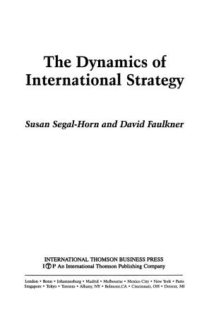The Dynamics of International Strategy PDF