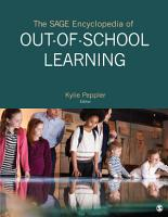 The SAGE Encyclopedia of Out of School Learning PDF