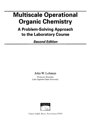 Multiscale Operational Organic Chemistry PDF
