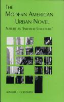 The Modern American Urban Novel PDF