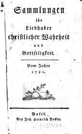 Sammlungen für Liebhaber christlicher Wahrheit und Gottseligkeit: 1792