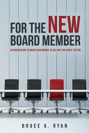 For the New Board Member