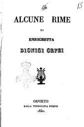 Alcune rime di Enrichetta Dionigi Orfei