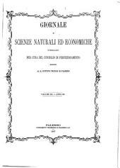 Giornale di scienze naturali ed economiche...: Volume 3