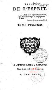 De l'Esprit par Claude Adrien Helvétius
