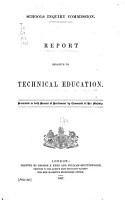Report Relative to Technical Education PDF