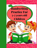 Handwriting Practice for 5-7 Years Old Children