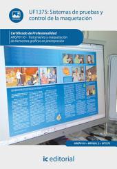 Sistemas de pruebas y control de la maquetación. ARGP0110