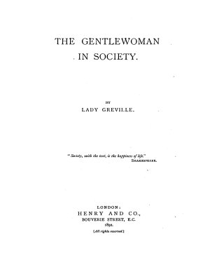 The Gentlewoman in Society PDF