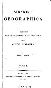 Strabonis Geographica. Recens. G. Kramer. Ed. minor: Τόμος 2
