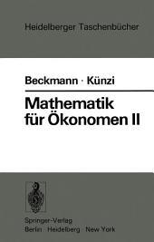 Mathematik für Ökonomen II: Lineare Algebra