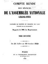 Compte rendu des séances de l'Assemblée nationale: Volume2